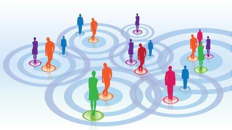 management / réseaux sociaux / rencontre / connexion