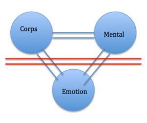 Il y a coupure de nos émotions. Seul notre mental et notre corps communiquent, il n'y a plus de vie...